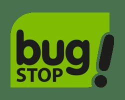 Marca de toldos Bug Stop logotipo